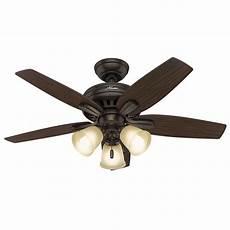Add Light To Hunter Ceiling Fan Hunter Newsome 42 In Indoor Premier Bronze Ceiling Fan