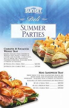 Summertime Party Menus Summer Parties Catering Menu Catering Menu Lunch