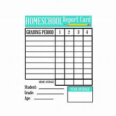 Printable Report Cards Free 7 Sample Homeschool Report Card Templates In Pdf