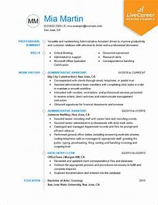 Skills For Administrative Assistant Best Administrative Assistant Resume Example Livecareer