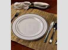 Wedding Party Disposable Plastic Dinnerware Round Plate