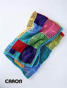 kaleidosquares crochet afghan