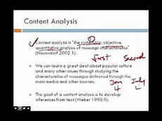 Content Analysis Example Chapter 13 Secondary And Content Analysis Youtube