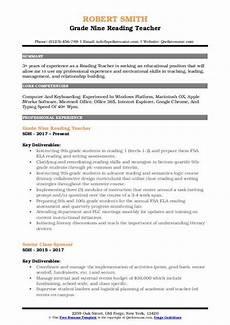 Resume Reading Software Reading Teacher Resume Samples Qwikresume