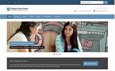 free college website templates in php responsive bootstrap theme for education college green