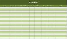 Phone Extension List Template Excel Phone List As Excel Template Free Of Charge