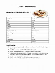 Or Receipt Sample Recipe Template 4 Free Templates In Pdf Word Excel