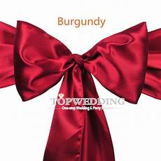 10pcs burgundy 6 quot x108 quot satin chair cover sashes bow