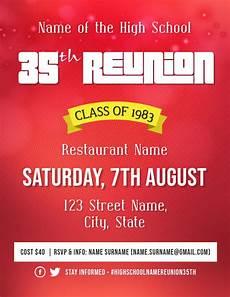 Reunion Flyer Template High School Reunion Event Flyer Template Postermywall