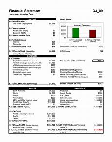 Financial Statement 40 Personal Financial Statement Templates Amp Forms ᐅ