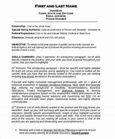 Government Resume Format Federal Resume Template 8 Free Word Excel Pdf Format