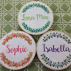 embroidery hoop name personalized embroidery