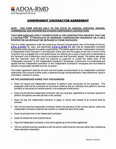 Contractor Contract Sample 50 Free Independent Contractor Agreement Forms Amp Templates