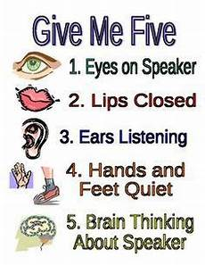 Give Me Five Rules Give Me Five Poster Printable Free Google Search
