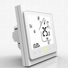 Google Black Light Backlight Smart Wifi Thermostat Lcd Touch Screen Work With