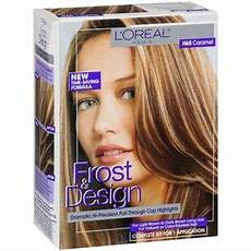 Loreal Frost And Design 2 Packets Of Lightening Powder Beauty Hair Color Caramel Dark Brown Long Hair How To