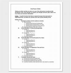 Sample Project Outline Research Paper Outline Template 36 Examples Formats