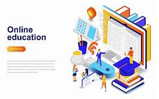 education modern flat design isometric concept
