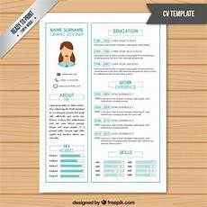 Blue Resume Paper Resume Template In White Color With Light Blue Details