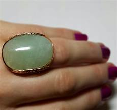 Light Green Stone Rings Mint Green Stone Ring Rose Gold Statement Natural Light