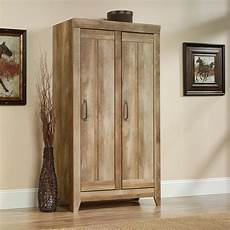sauder adept wide storage cabinet craftsman oak finish