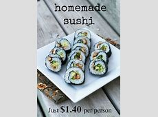 How To Make (cheap) Sushi Rolls At Home: Just $1.40 Per