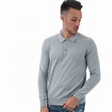 mens knit shirts sleeve buy ben sherman mens sleeve knit polo shirt in grey