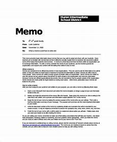 Memo Format For Word Sample Formal Memo Template 8 Documents Download In