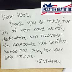 How To Write A Letter To A Soldier Operation Gratitude On Operation Gratitude Military