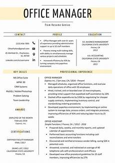 Resume Template Office Office Manager Resume Sample Amp Tips Resume Genius