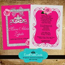 Pink Invitations Pink Roses Amp Silver Quinceanera Invitations With Back