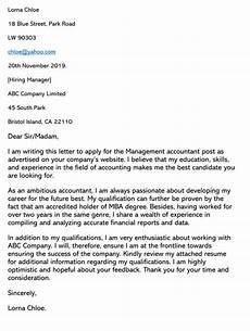 Cover Letters For Accounting Accounting Cover Letter Sample Letters Amp Email Examples