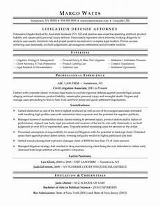 Criminal Defense Attorney Resume Attorney Resume Sample Monster Com