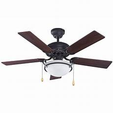 Oil Rubbed Bronze Ceiling Fan Without Light Shop Canarm 42 In Oil Rubbed Bronze Downrod Mount Indoor