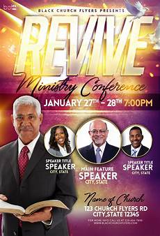 Church Flyer Revive Ministry Conference Black Church Flyers