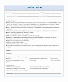 Visiting Report Template 13 Sample Visit Reports Word Pdf Pages Free