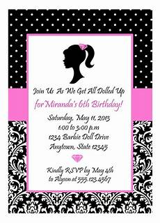 Pink Party Invitations Girl Diva Party Pink And Black Invitation