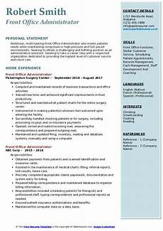 Front Office Executive Resumes Front Office Administrator Resume Samples Qwikresume