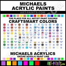 S Acrylic Craft Paint Color Chart Craft Smart Acrylic Paint Colors Craft