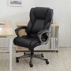 Warmiehomy Office Chair Swivel Faux Leather Armchair Height Adjustable by Belleze High Back Executive Office Chair Ergonomic Task