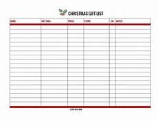 Christmas List Maker Printable Free Christmas Gift List Printable And Online Versions