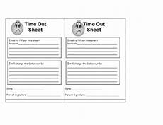 Time In Time Out Sheet Time Out Sheet Teaching Ideas