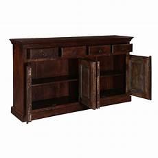 willamette brown rustic farmhouse 4 drawer buffet cabinet