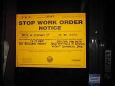 Work Order No Stop Work Order Notice No Building Permit 2014 W Di