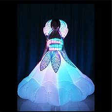 Led Lights To Wear Tc 179 Inflatable Led Women Dress Full Color Led Light