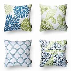 phantoscope new living blue green decorative throw pillow