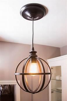 Diy Light Fixtures Parts Easy Diy Pendant Light How To The Home Depot Blog