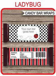 Hershey Candy Bar Wrappers Ladybug Hershey Candy Bar Wrappers Personalized Candy Bars