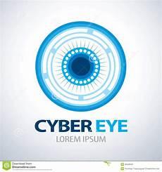 Cyber Eye Cyber Eye Symbol Icon Stock Vector Illustration Of
