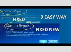 windows 10 Automatic Repair Loop, Startup repair could not